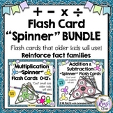 Flash Card BUNDLE Addition Subtraction Multiplication Division -Cool Small Size!