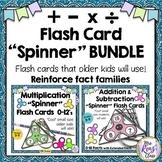 Spinner Flash Card BUNDLE Addition Subtraction Multiplicat