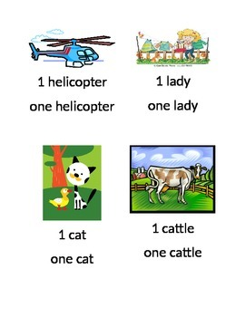 Flash Cards for Introducing the concept of 1