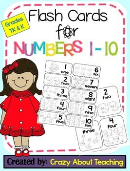 Flash Cards for Numbers 1-10