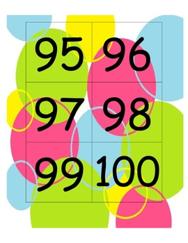 Flash Cards for Numbers 1-100 (colorful dots)