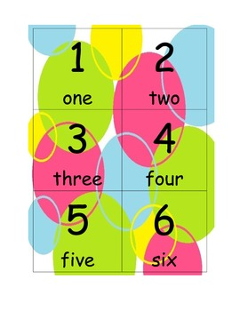 Flash Cards for Numbers 1-100 (with words and colorful circles)