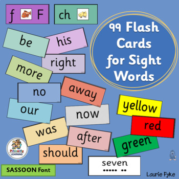90 Sight Word Flash Cards complement programs like Jolly Phonics! (SASSOON)