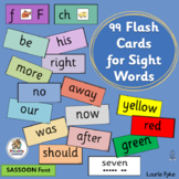 Sight Word Flashcards supports Jolly Phonics | SASSOON Font