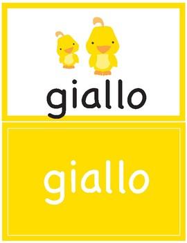 Flash Cards ~ i colori ~ Colors in Italian