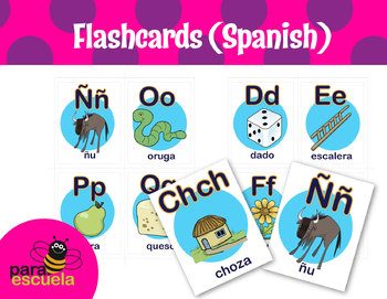 Alphabetical Flash Cards in Spanish