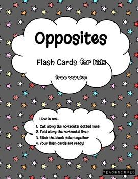 ★Fun Flash Cards- English Opposites for Kids (Simple Antonyms) [Free Version]