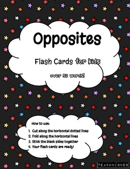 ★Fun Flash Cards- English Opposites for Kids (Simple Anton