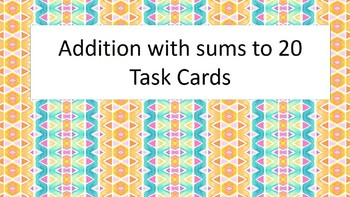 Flash Cards sums to 20