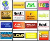 15 Math Drill Games in One Bundle (4th 5th 6th Grade)SMART Notebook