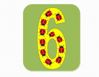 Flash Cards with Ladybug - From 1 to 20