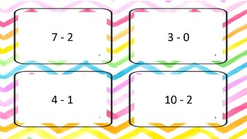 Flash Cards with differences to 10
