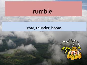 Flash, Crash, Rumble, Roll Vocab. PP, quiz, comp. test