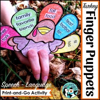 Finger Puppet Turkeys for Speech/Language