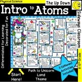 Intro to Atoms- Domino Path Matching Activity (Unicorn Theme)