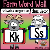 Word Wall Farm Decor