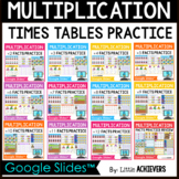 Digital Multiplication Facts Practice Google Slides™ Dista