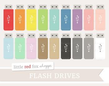 Flash Drive Clipart; USB Drive