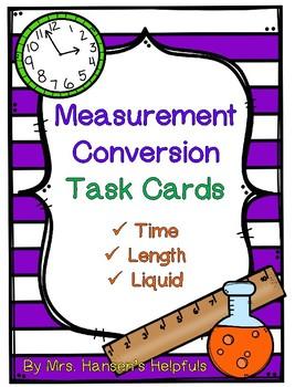 Measurement Conversion Task Cards