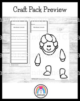Abraham Lincoln Craft and Writing: Puppet (USA, Presidents)