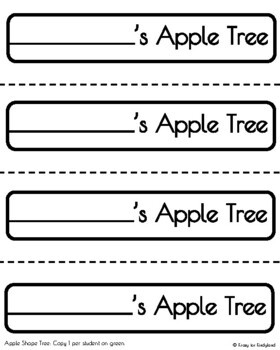 Apple Shapes Tree Craft (Autumn, Fall, Back to School, First Day)