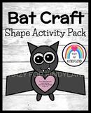 Bat Shape Craft Math Activity for Halloween, Fall, Trick-or-Treat