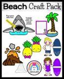Beach Craft Bundle: Surfer, Shark, Pineapple, Volcano, Pal