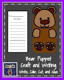 Bear Craft: Puppet (Zoo, Summer, Animal Research)