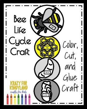 Bee Life Cycle Craft (Spring, Summer)