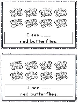 Butterfly Count and Color Emergent Reader