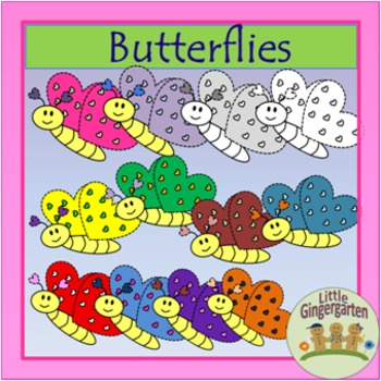 Freebie 36 Butterfly Clip Art Images Blackline Masters