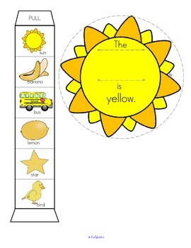 COLORS Craftivity and Printables for Preschool, Pre-K and Kindergarten