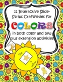 COLORS Craftivity and Printables for Preschool, Pre-K and