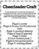 Cheerleader Craft (Football, Homecoming, Super Bowl)