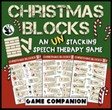 Christmas Blocks: A Speech Therapy UN-Stacking Game! (game companion)