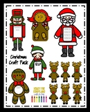 Christmas Craft Pack: Gingerbread Man & Girl, Santa, Nutcracker