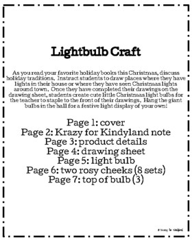 Christmas Light Craft and Drawing (Holiday Family Traditions)