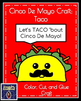 Cinco De Mayo Craft Pack: Taco, Cactus, Maracas, Hat, Pinata
