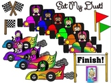 Clip Art ~ Eat My Dust Race Cars