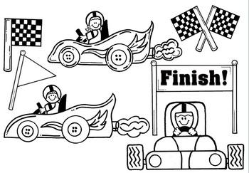Clip Art ~ Eat My Dust Race Cars