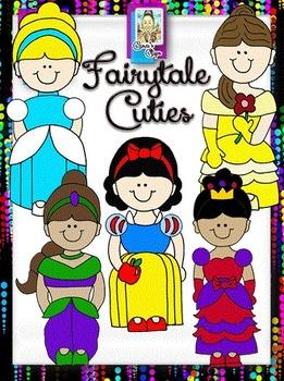 Clip Art ~ Fairytale Cuties - 500 Fantastic Followers Celebration