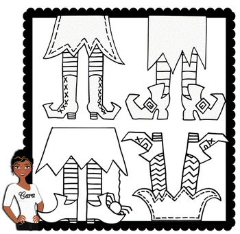 Clip Art~ Halloween Witches Feet