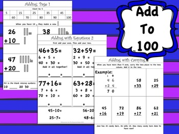 2nd Grade Math, Common Core Aligned: Number sense and addition to 100
