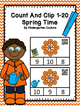 Count And Clip 1-20 Spring Time