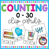 new years activities 2019 Counting Clip Cards 0-30 #dollardeals2019