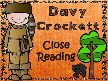 Folk Tales - Davy Crockett Close Reading and Activities