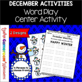 December Holiday Word Play Activity