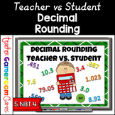 Decimal Rounding Teacher vs. Student Powerpoint Game