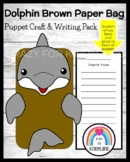 Dolphin Craft for Kindergarten: Puppet (Ocean, Animal Research, Summer School)