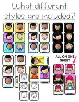 EDITABLE Personalized Student Picture Labels COLOR & B/W in Multiple Sizes